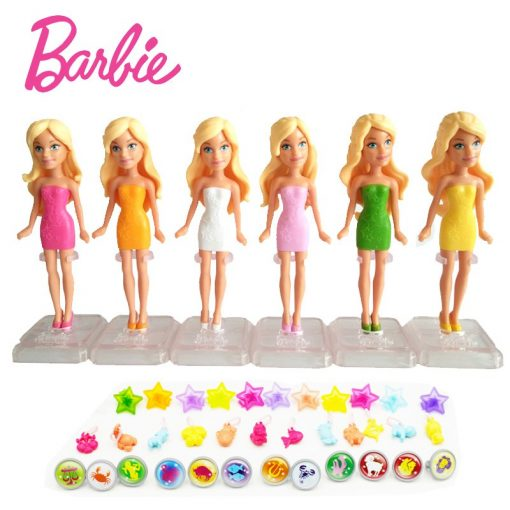 Original Barbie 6 dolls/Set Mini Barbies With Dress Clothes Birthday Series American Girls Boneca brinquedos Toys For Children 1