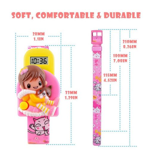 SKMEI New Fashion Children Cartoon Watches Creative Students Watch Girls Kids Digital Lovely Wristwatches Relojes 1240 3