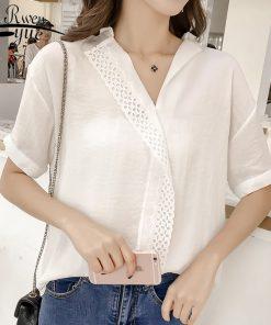 Fashion Women Tops and Blouses 2018 Short Sleeve Summer Tops Plus Size 3XL 4XL Chiffon Blouse Shirt Ladies Tops Blusa 1037 40