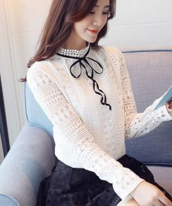 autumn long sleeve shirt women sexy hollow lace blouse shirt fashion woman blouses 2018 lace ladies tops blusa feminina 1313 40 1