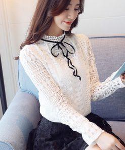 autumn long sleeve shirt women sexy hollow lace blouse shirt fashion woman blouses 2018 lace ladies tops blusa feminina 1313 40 1