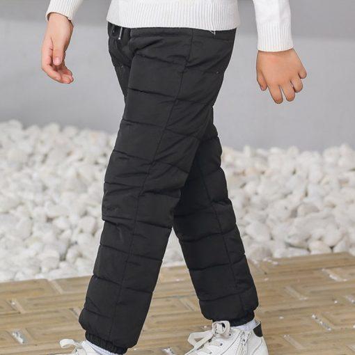 Kids boys pants trousers Duck Down harem pants boys winter pants for girls Kids Elastic Waist Thick trousers Children's Clothes 2