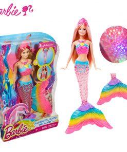 Barbie Original Brand Mermaid Doll Feature Rainbow LightsBarbie Doll The Girls Toys For Chilren A Birthday Present Gift Boneca