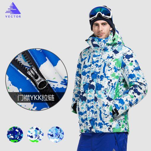 VECTOR Brand Ski Jackets Men Waterproof Windproof Warm Winter Snowboard Jackets Outdoor Snow Skiing Clothes HXF70012 2