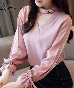 New Autumn Long Sleeve Shirt Women Fashion Woman Blouses 2018 Chiffon Blouse Shirt Blasas Feminina Elegante Blouse Women 1147 40