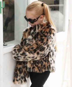 Children's clothing girl Faux Fur Coat Kids Baby Girls Leopard Autumn Winter Jacket Thick Warm Outwear Clothes windbreaker 1
