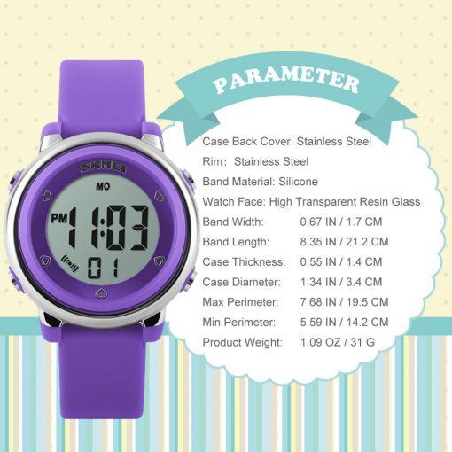 SKMEI New Fashion Sports Children Watches Waterproof Alarm Watch Kids Back Light Calendar Digital Wristwatches Relogio Infantil 5