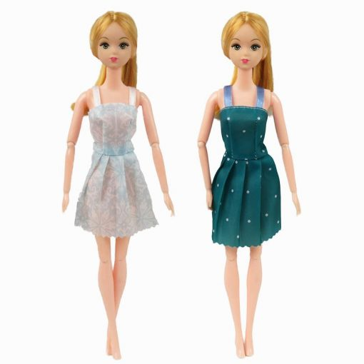 For Original Barbie  5PCS Barbie Doll Clothes &10 Pairs of Random Shoes Doll Accessories Fashion Party Princes Dress Girls Gift 3