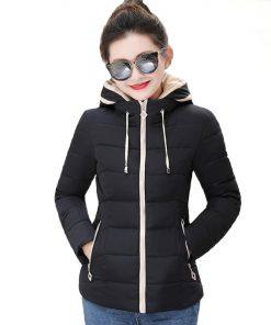 Hooded Outwear Womens Winter Jackets Slim Ladies Women Autumn Basic Jacket Short Casaco Feminino Inverno 2018 New Arrival