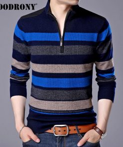 COODRONY Mens Sweaters And Pullovers Pure Merino Wool Sweater Men 2018 Winter Thick Warm Zipper Turtleneck Cashmere Pullover Men 1