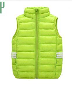 HH kids vests Down Cotton Children Vest Winter Spring Warm waistcoats for boys girls jacket sleeveless Outerwear 3 5 6 7 8 Year