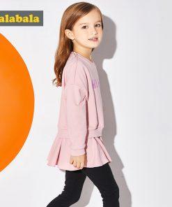 Balabala 2018 Spring clothes Sets for Girls cotton Dress+leggings Children Clothing Letter Print Suits comfort Kids clothes suit 1