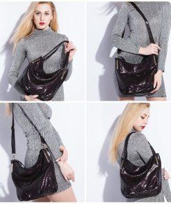REALER brand handbag women genuine leather shoulder bag female serpentine print large tote bag high quality zipper crossbody bag 1