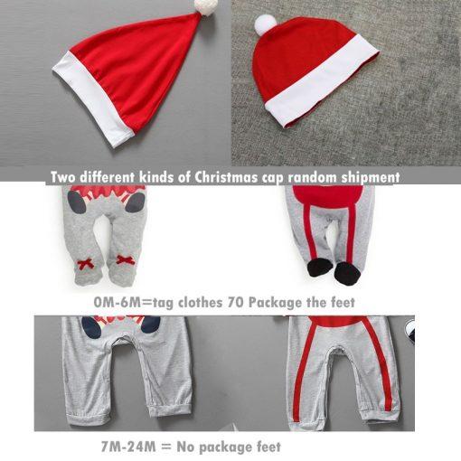 Christmas Baby girls clothes newborn pajamas baby boy winter snowsuit warm christmas romper jumpsuit santa claus baby costume  4