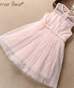 Humor Bear princess Dress 2018 NEW Baby Girls Dress Party Flower Girl Christening Wedding Party Pageant Dress kids clothing 1