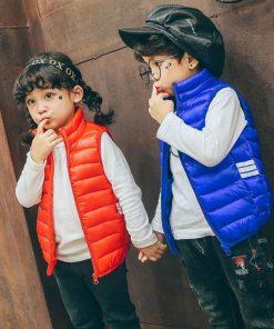 HH kids vests Down Cotton Children Vest Winter Spring Warm waistcoats for boys girls jacket sleeveless Outerwear 3 5 6 7 8 Year 1