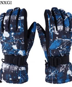 Winter Luvas Men Esquiar Gloves High Quality Doodle Women Hand Warmer Camo Printed Cotton Thickened Male Gloves Waterproof G052