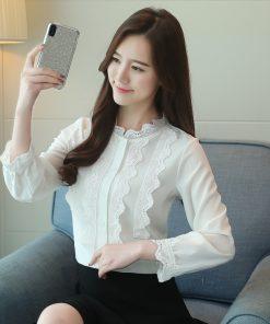 autumn casual solid chiffon women blouse shirt fashion woman blouses 2018 long sleeve shirt women blusa feminine blouses 1205 40 1