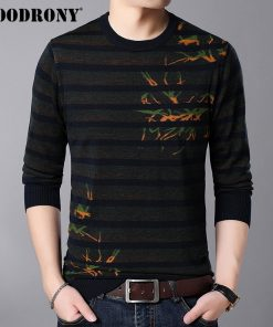 COODRONY Mens Sweaters 2018 Autumn Winter New Arrival Wool Pullover Men Knitted Cashmere Sweater Men Casual Striped Jumper 8230 1