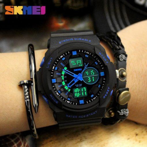 SKMEI Shock Resistant Watches Waterproof Men Women Kids Outdoor Sport Watch Multifunction Boy Children Fashion Wristwatches 5