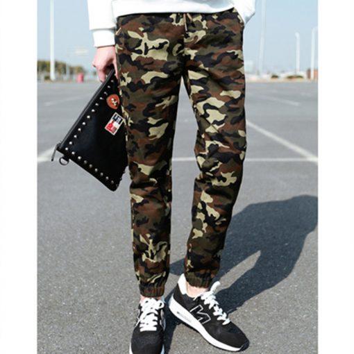 2018 New Joggers Men Hot Sale Casual Camouflage Pants Men Quality 100% Cotton Elastic Comfortable Trousers Men Plus Size M-3XL 5