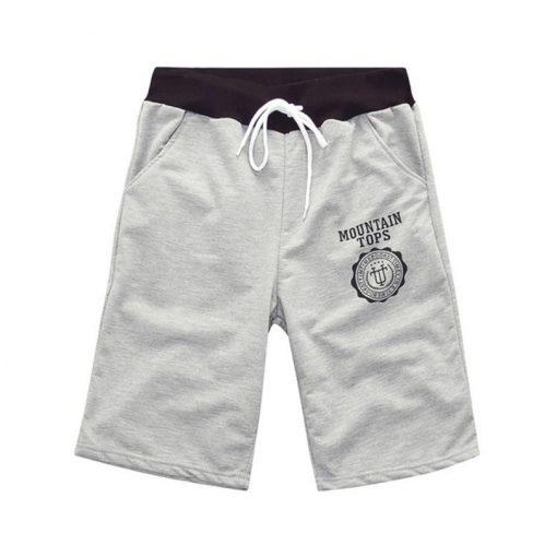 Deportes Corriendo Male Cotton Casual Letters Knee Length Shorts Men Brand Summer Fashion Plus Size 6 Colors Black Clothing D020 1