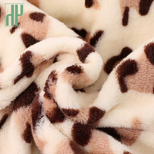 3 6 9 12 months baby clothes cute winter warm longsleeve coral fleece infant Leopard cow animals clothes baby boy girl rompers  5