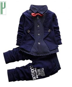 Baby clothes boy formal gentleman suit kids clothes costume for girls children Bow toddler boys clothes set birthday dress wear