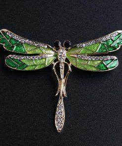 DIEZI Vintage Fashion Drip dragonfly Rhinestone Crystal Bouquet Brooches For Women Wedding Brooch Pins 2018 New Luxury Brooch