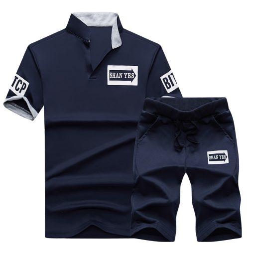 NaranjaSabor Summer Men's Clothing Set Male Boys Clothing Suit Casual Sweatshirt Shorts Pant Men's Brand Clothing Tracksuit 4XL 3