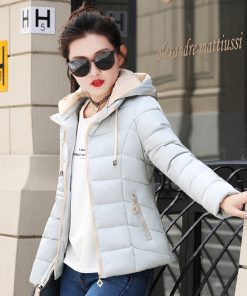 Hooded Outwear Womens Winter Jackets Slim Ladies Women Autumn Basic Jacket Short Casaco Feminino Inverno 2018 New Arrival  1