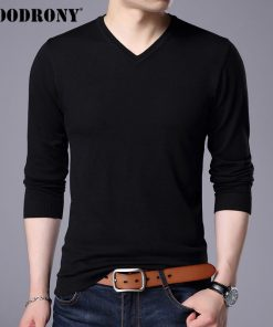 COODRONY Cashmere Sweater Men Brand Clothing 2017 Autumn Winter Thick Warm Wool Sweaters Solid Color V-Neck Pullover Shirts 7153 1