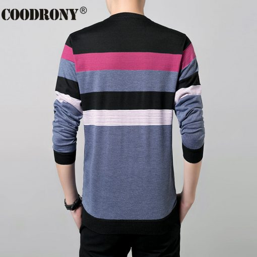 2017 New Autumn Winter Thin Sweater Men Wool Sweaters Knitted Cashmere O-Neck Pullover Shirt Men Casual Striped Pull Homme 66158 3