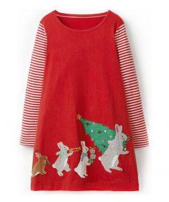 Toddler Girls Dresses Christmas Children Princess Dress for Party Wedding 2018 Autumn Kids Long Sleeve Dress Baby Girl Clothes 1