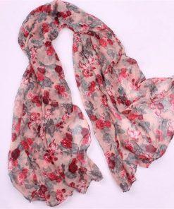 VISNXGI Wholesale New Fashion Women Print Soft Long Scarf Cotton Scarves Neck Wrap Shawl Stole Spring Autumn Scarves For Women 1
