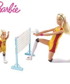 Original Barbie 2018  Fashion Doll Little volleyball teacher Barbie Girl Gift The Girl A Birthday Present Girl  Boneca FRL33