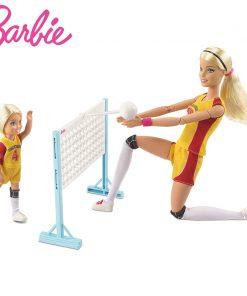 Original Barbie 2018  Fashion Doll Little volleyball teacher Barbie Girl Gift The Girl A Birthday Present Girl  Boneca FRL33
