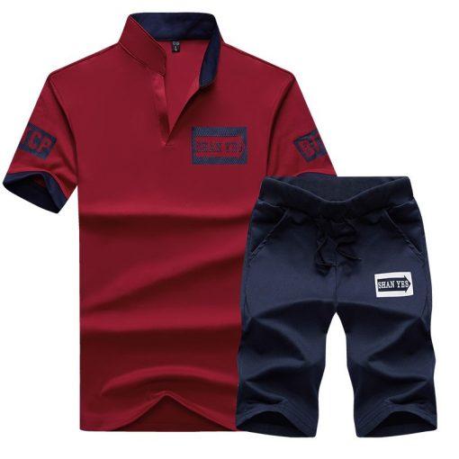 NaranjaSabor Summer Men's Clothing Set Male Boys Clothing Suit Casual Sweatshirt Shorts Pant Men's Brand Clothing Tracksuit 4XL 2