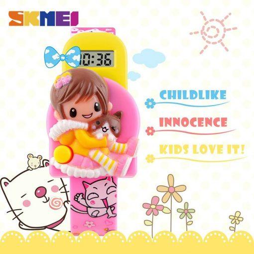 SKMEI New Fashion Children Cartoon Watches Creative Students Watch Girls Kids Digital Lovely Wristwatches Relojes 1240 2