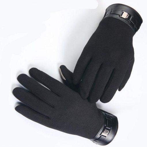 VISNXGI Winter Spring 2018 Fashion Cloth Cotton Wrist Plush Comfortable Soft Feeling Men Touched Mittens Gloves High Quality 2