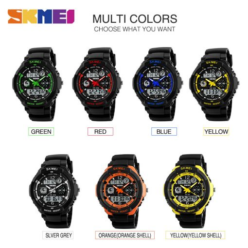 SKMEI Adult Kids Suit Watch Anti-Shock Waterproof Outdoor Sport Children Watch Men Fashion Digital Wristwatch Relogio Masculino 5