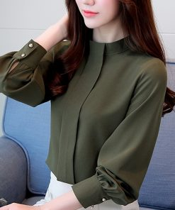 New Fashion 2018 women blouse shirt long sleeve plus size women's clothing red office lady shirt feminine tops blusas D208 30 1