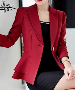 2018 autumn women fashion jackact clothes long sleeve office outwear women jacket solid slim womens jackets and coats 1345 45