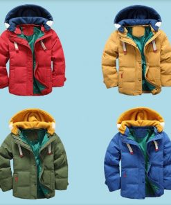 HH Kids jacket boys Hooded Winter baby girl autumn jacket toddler coat children snowsuit Velvet Jacket Outwear 3 4 5 8 10 Years  1