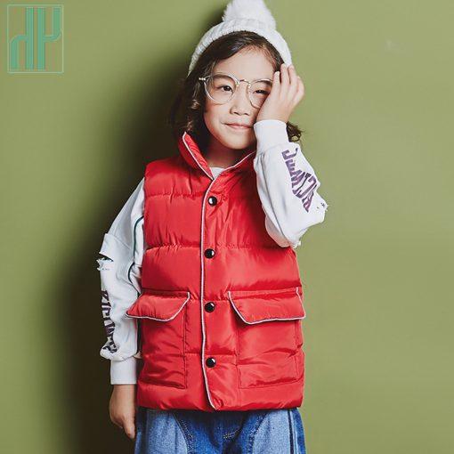 2 6 8years Sleeveless kids vest bodywarmer baby waistcoat girl vest autumn Winter boys vest for children cotton down jacket  2