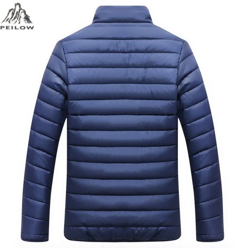 PEILOW Winter Jacket Men 2018 new Fashion Stand Collar Male Parka Jacket Mens Solid color Jackets and Coats Man Winter Parkas 3