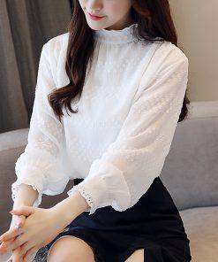 autumn casual solid white long sleeve shirt women fashion woman blouses 2018 Chiffon blouse shirt blusas chemise femme 1234 40 1