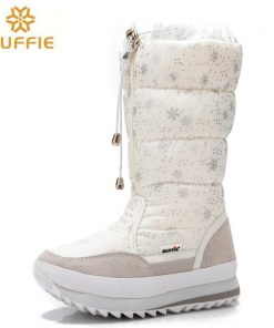 2018 Winter boots High Women Snow Boots plush Warm shoes Plus size 35 to big 42 easy wear girl white zip shoes female hot boots  1
