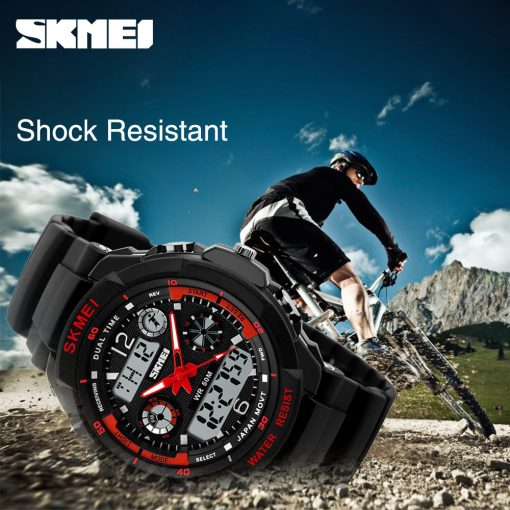 SKMEI Adult Kids Suit Watch Anti-Shock Waterproof Outdoor Sport Children Watch Men Fashion Digital Wristwatch Relogio Masculino 3