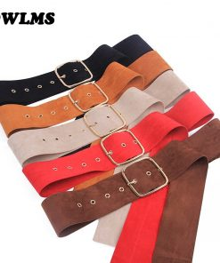 Newest brown coat belt women's belts long gold pin buckle sweater bundle jacket waist skirt waistband red Velvet soft strap belt